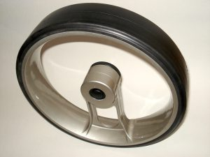 caddycool Einspeichenrad Carbon Silber