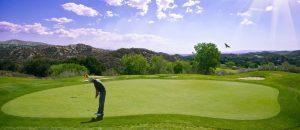 Golfspieler auf dem Grün